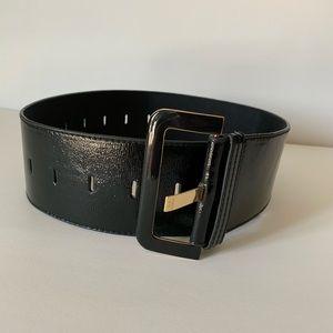 Ted Baker Wide black leather waist belt
